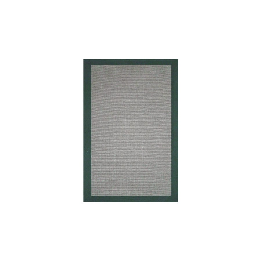 Jute Green Rectangular Indoor Woven Area Rug (Common: 5 x 8; Actual: 60-in W x 96-in L)