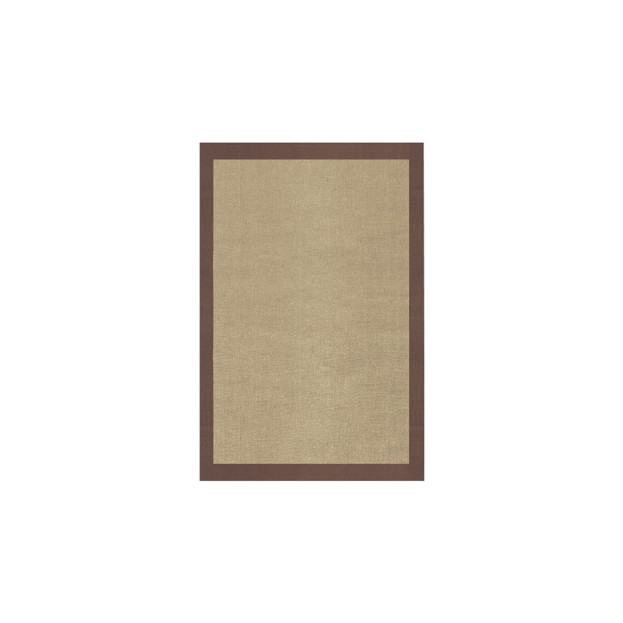 Jute Rectangular Indoor Woven Area Rug (Common: 5 x 8; Actual: 60-in W x 96-in L)