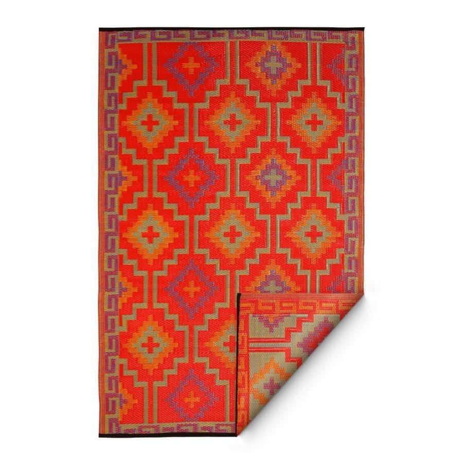 Fab Habitat Lhasa - Orange & Violet (5' x 8')