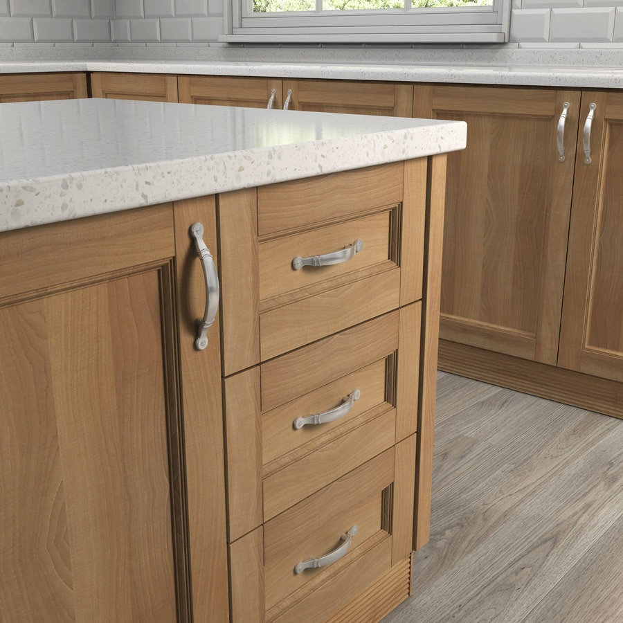 Style Selections 3-in Center-to-Center Satin Nickel Arched Cabinet Pull