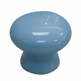 allen + roth 1.3-in Blue Round Modern Cabinet Knob