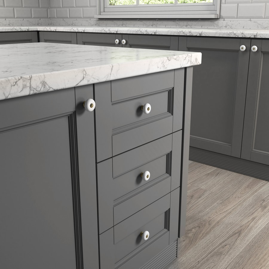 Shop Style Selections Antique Brass And Porcelain White