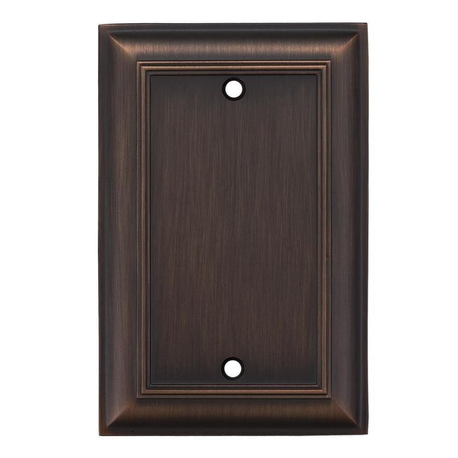 allen + roth 1-Gang Oil-Rubbed bronze Single Blank Wall Plate