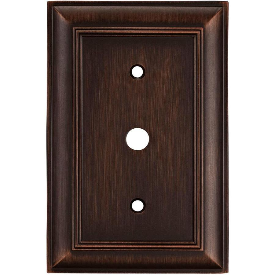 allen + roth Cosgrove 1-Gang Oil-Rubbed bronze Single Wall Plate