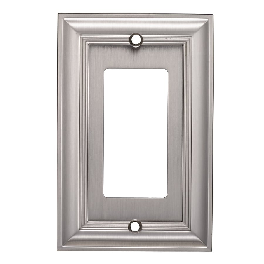 allen + roth 1-Gang Satin Nickel Single Decorator Wall Plate