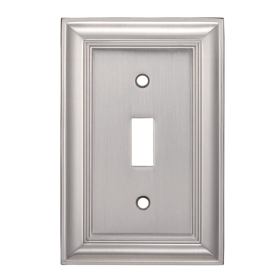 Allen Roth Cosgrove 1 Gang Satin Nickel Single Toggle Wall Plate