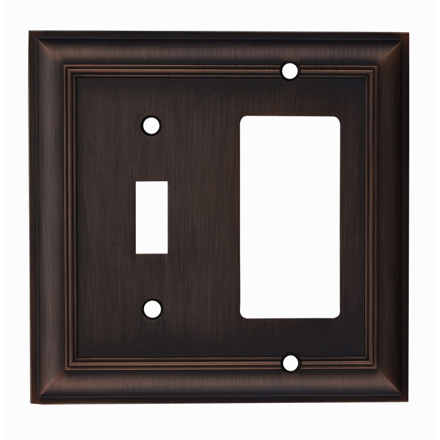 Allen Roth Cosgrove 2 Gang Oil Rubbed Bronze Single Wall Plate