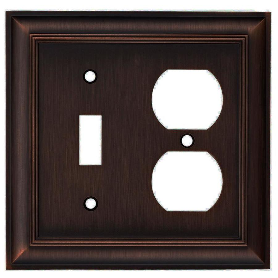 allen + roth Cosgrove 2-Gang Oil-Rubbed bronze Double Toggle/Duplex Wall Plate