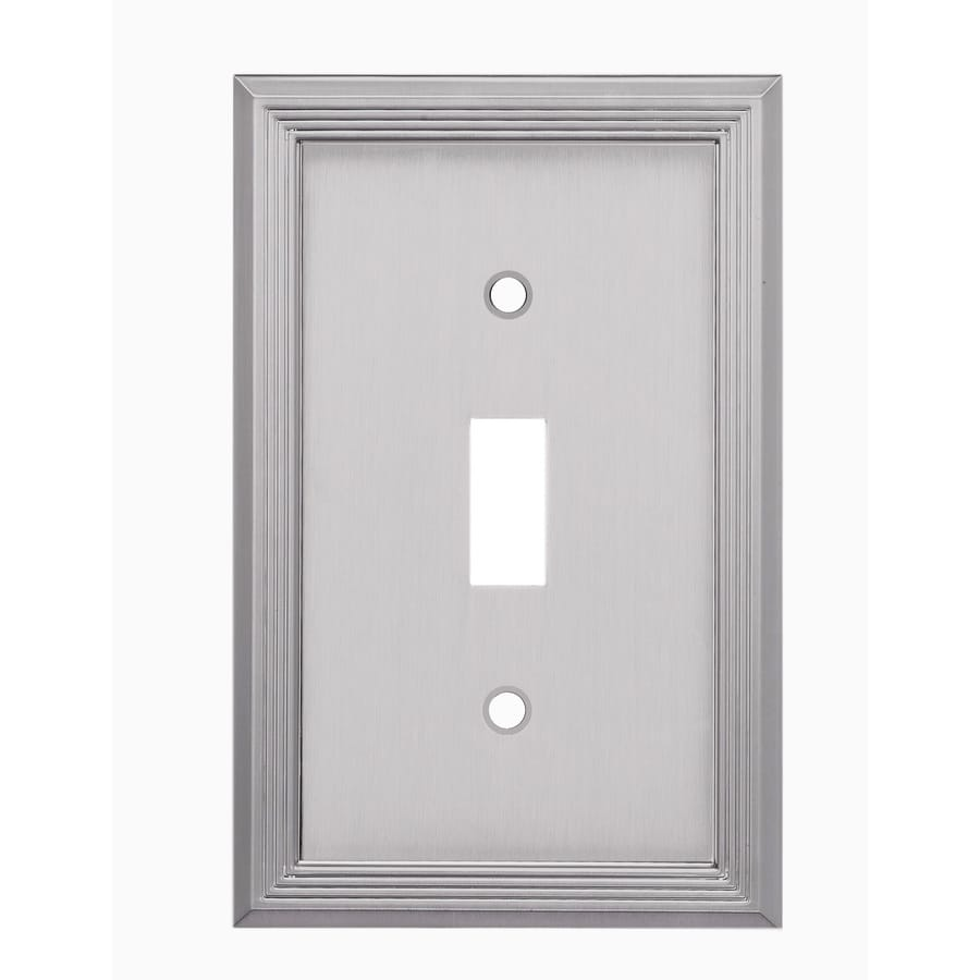 allen + roth 1-Gang Satin Nickel Single Toggle Wall Plate
