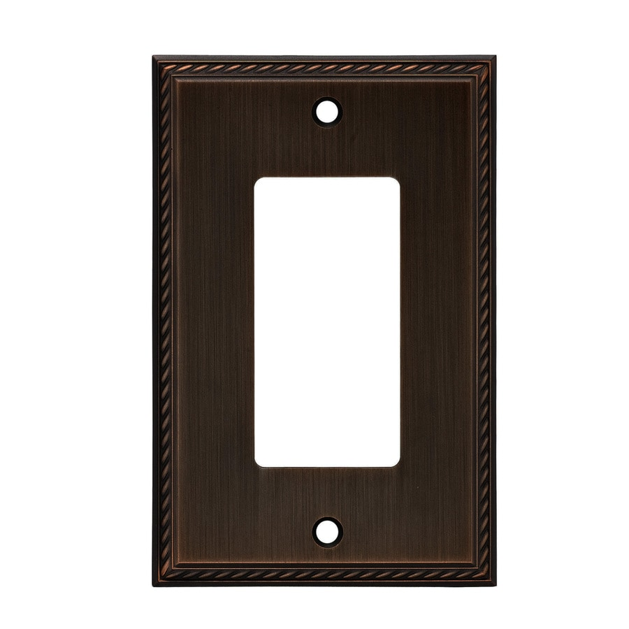 allen + roth 1-Gang Oil-Rubbed Bronze Decorator Wall Plate