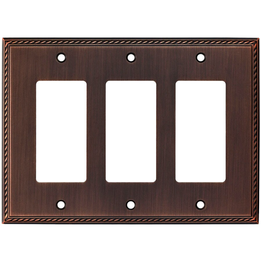 allen + roth 3-Gang Oil-Rubbed Bronze Decorator Wall Plate