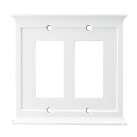 allen + roth 2-Gang White Decorator Wall Plate