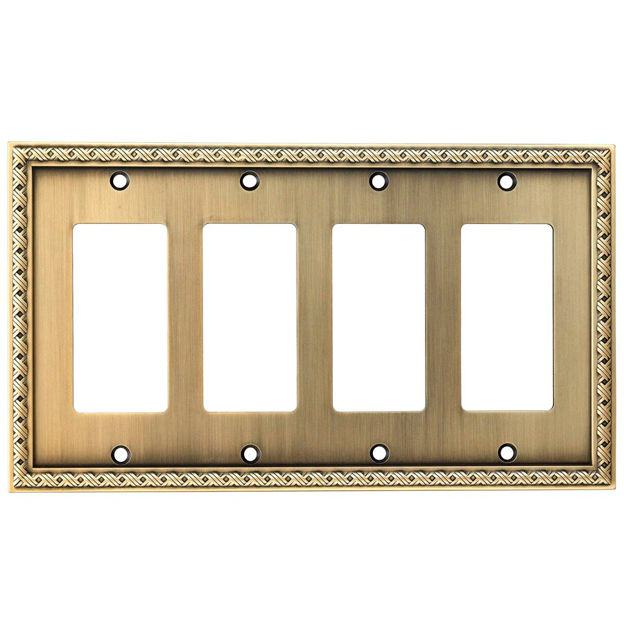 allen + roth 4-Gang Aged Brass Decorator Wall Plate