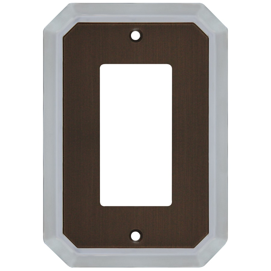 allen + roth 1-Gang Dark Oil-Rubbed Bronze and Satin Nickel Decorator Wall Plate