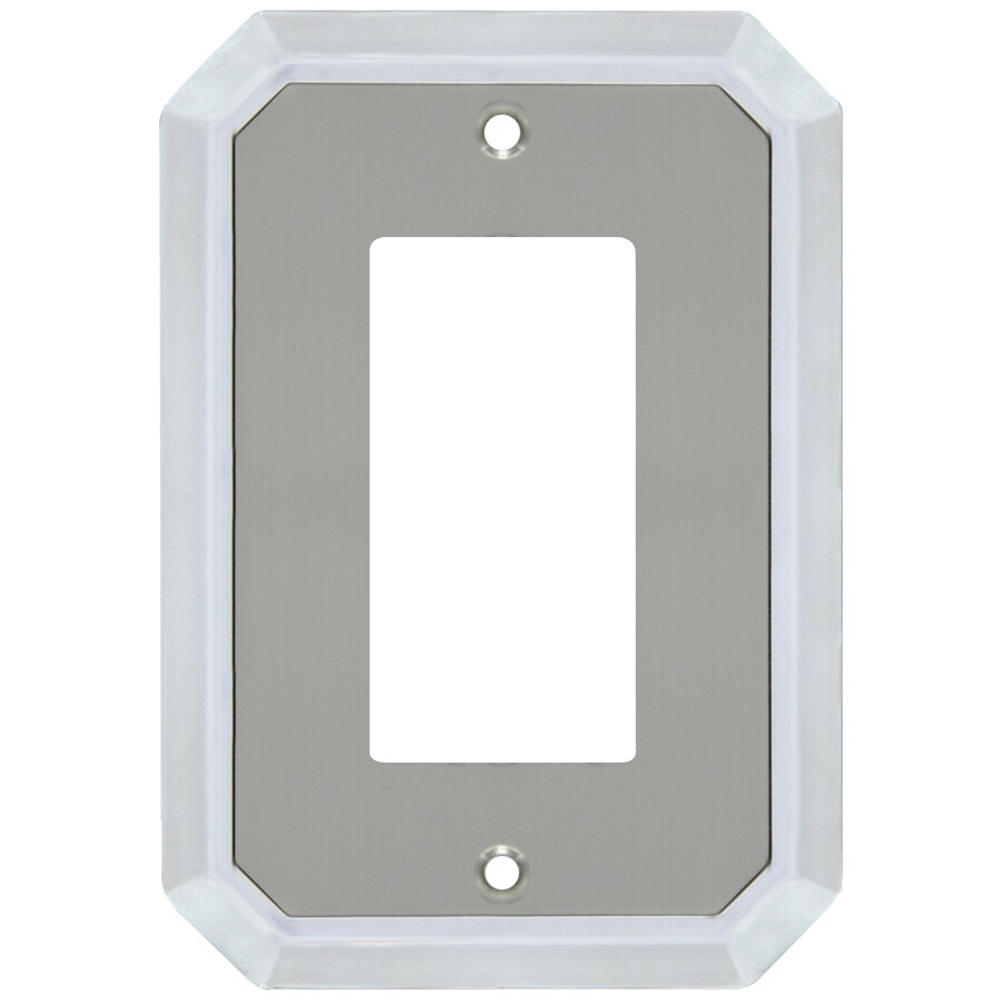 allen + roth 1-Gang Satin Nickel and Polished Chrome Decorator Wall Plate