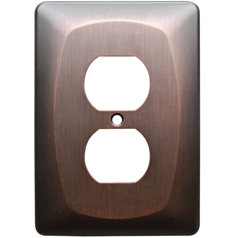 allen + roth 1-Gang Dark Oil-Rubbed Bronze Round Wall Plate