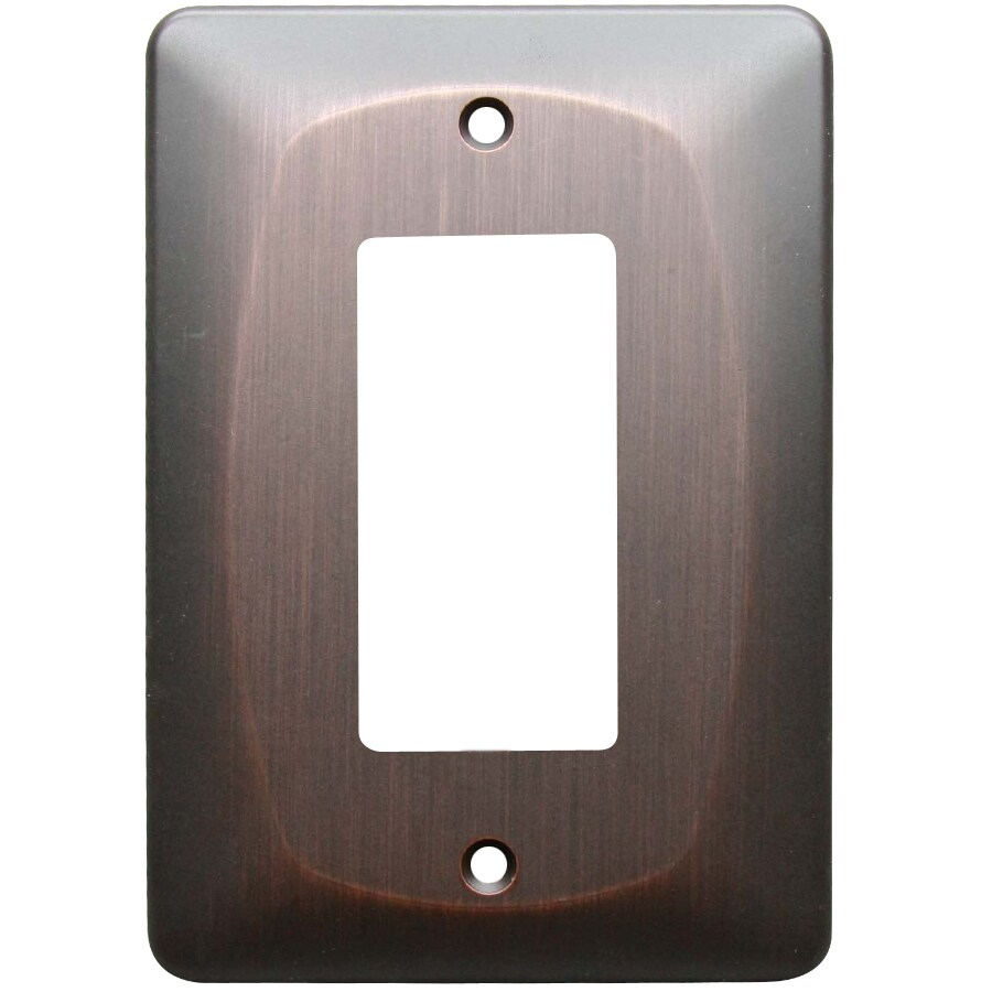 allen + roth Baker 1-Gang Dark Oil-Rubbed bronze Decorator Wall Plate