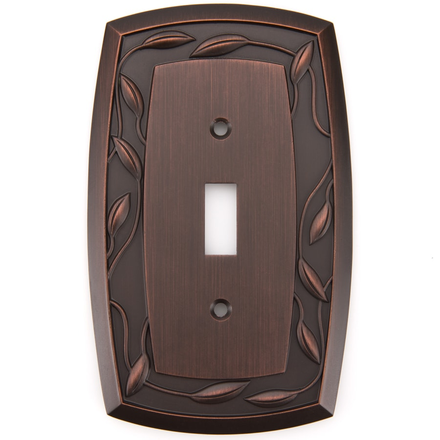 allen + roth Eastview 1-Gang Dark Oil-Rubbed bronze Single Toggle Wall Plate
