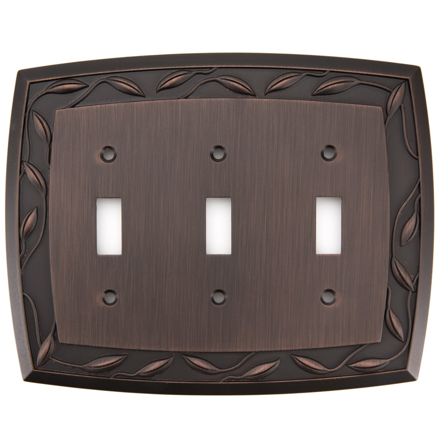 allen + roth 3-Gang Dark Oil-Rubbed Bronze Toggle Wall Plate