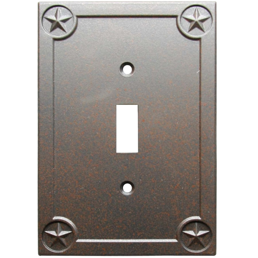 allen + roth Texas Star 1-Gang Rust Single Toggle Wall Plate