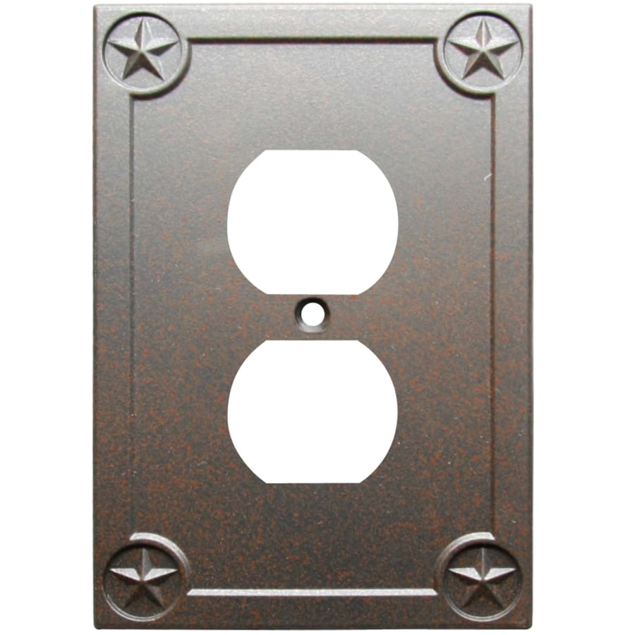 allen + roth Texas Star 1-Gang Rust Single Round Wall Plate