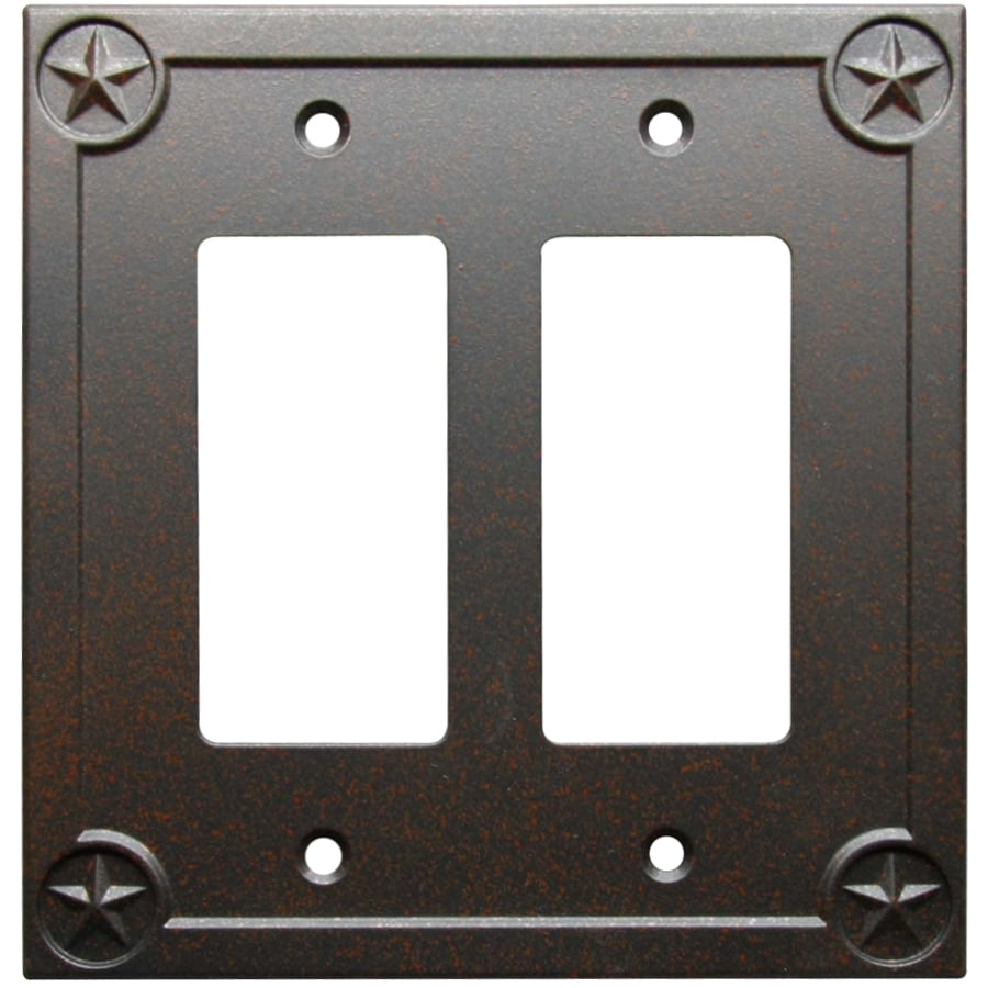 allen + roth Texas Star 2-Gang Rust Double Decorator Wall Plate