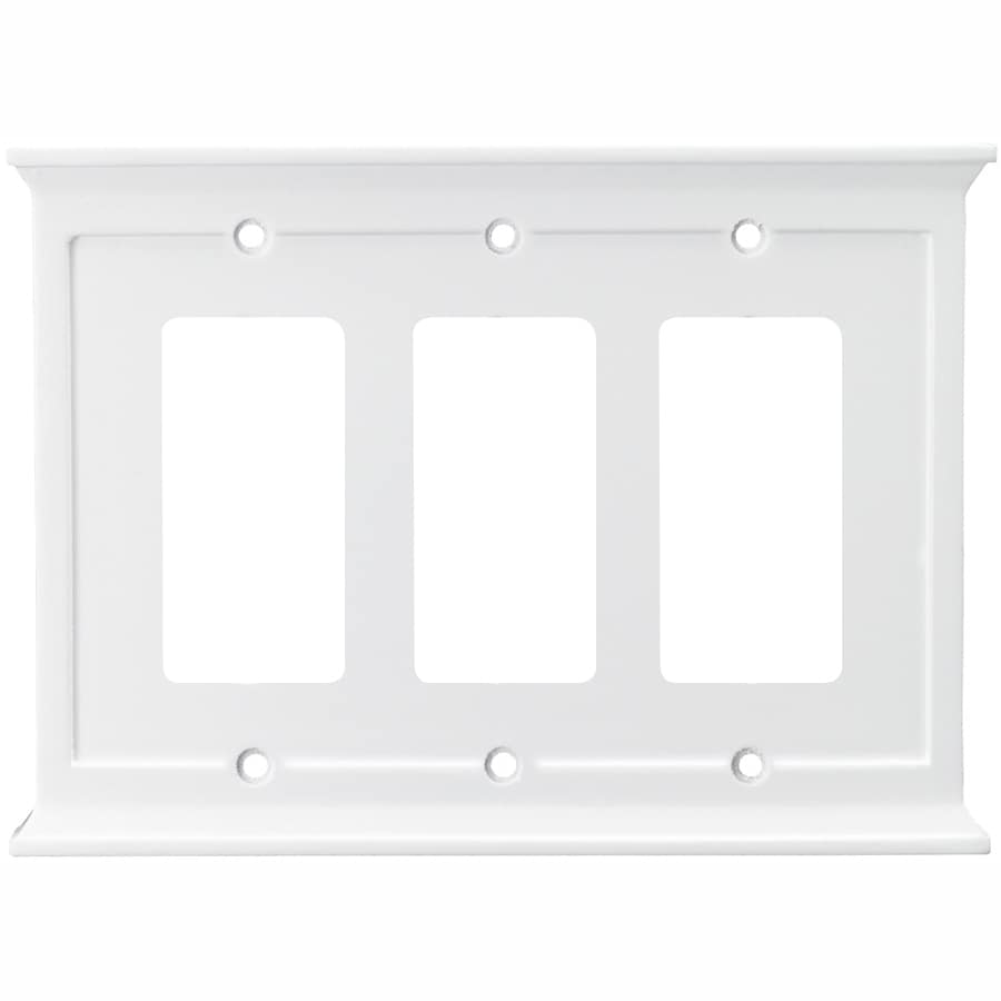 allen + roth 3-Gang White Decorator Wall Plate