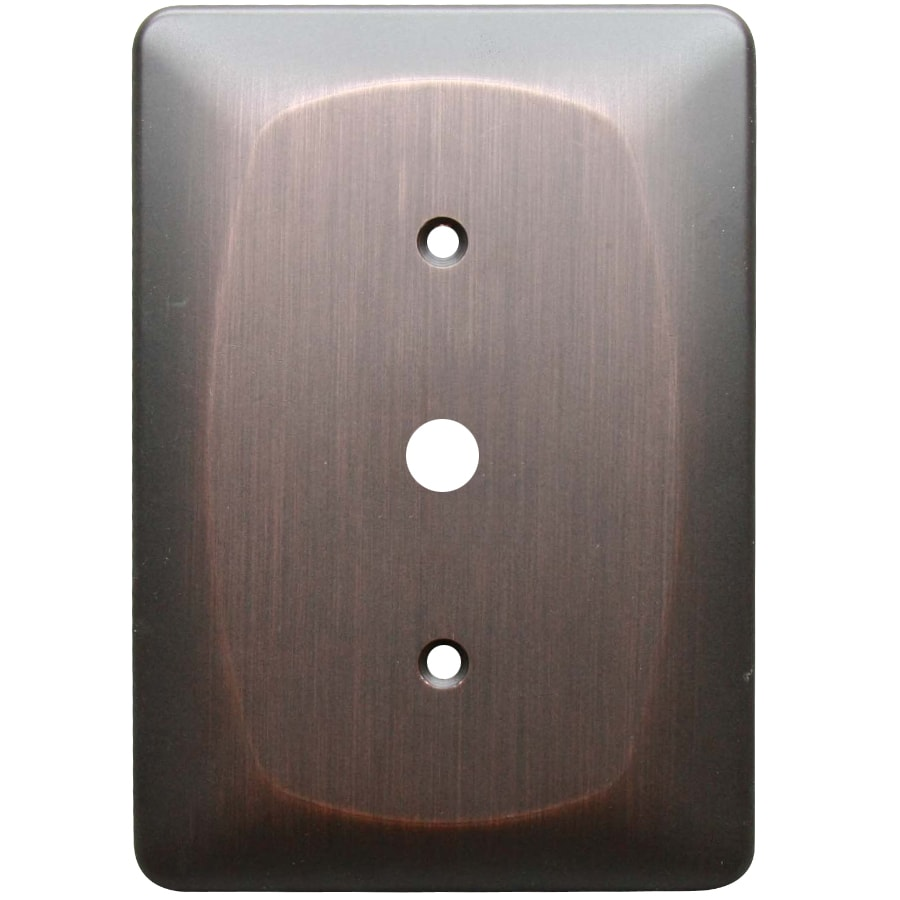 allen + roth 1-Gang Dark Oil-Rubbed Bronze Coaxial Wall Plate
