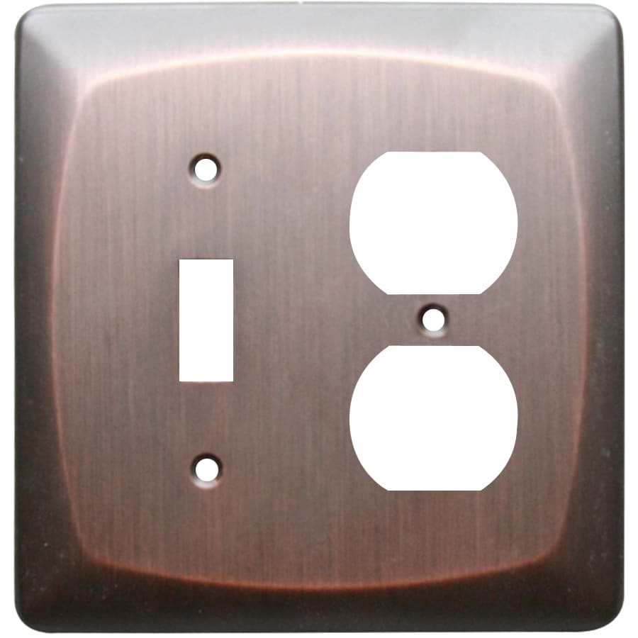 allen + roth Baker 2-Gang Dark Oil-Rubbed bronze Double Toggle/Duplex Wall Plate