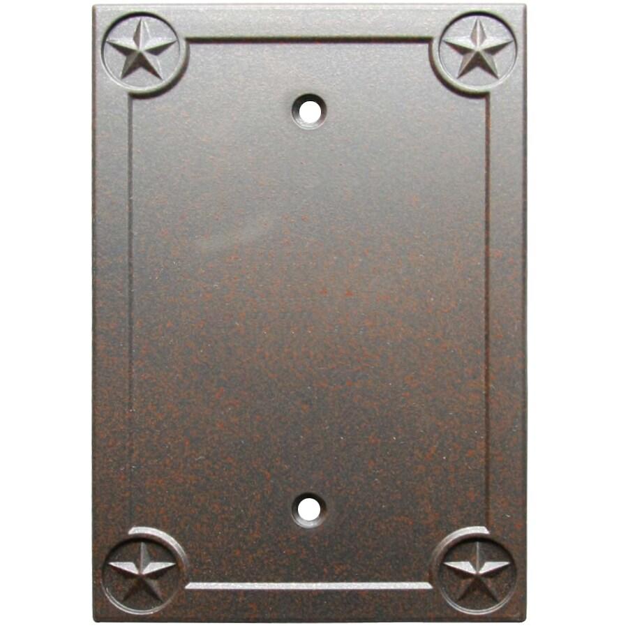 Style Selections Texas Star 1-Gang Rust Single Blank Wall Plate