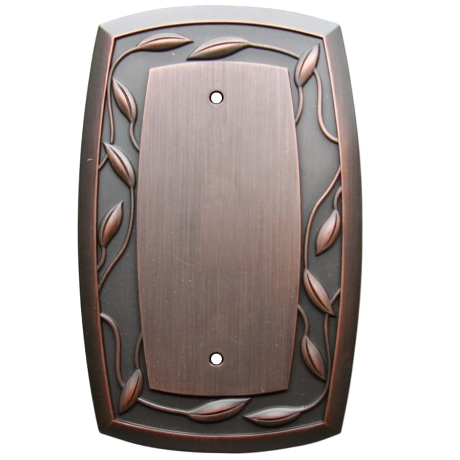 allen + roth 1-Gang Dark Oil-Rubbed Bronze Blank Wall Plate