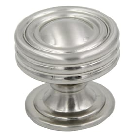 allen + roth 1.25-in Satin Nickel Round Transitional Cabinet Knob