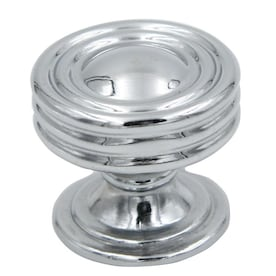allen + roth 1.24-in Polished Chrome Round Contemporary Cabinet Knob