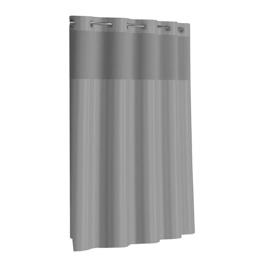 Hookless Hookless Gray Shower Curtain 71x74 With Peva Liner In The Shower Curtains Liners Department At Lowes Com