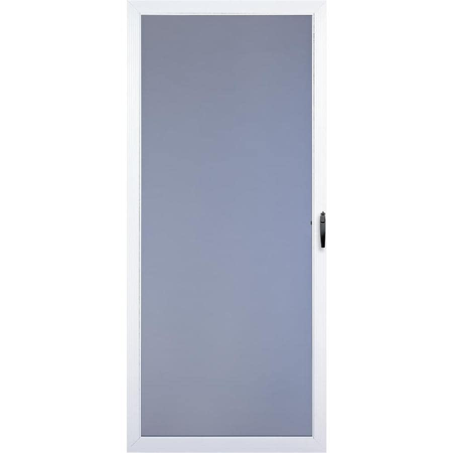 Comfort-Bilt Springfield White Full-View Aluminum Self-Storing Storm Door (Common: 36-in x 81-in; Actual: 35.875-in x 80-in)