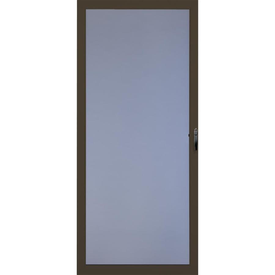 Comfort-Bilt Brown Full-View Storm Door with Self-Storing (Common: 32-in x 81-in; Actual: 31.875-in x 80-in)