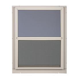 Comfort Bilt Single Glazed Aluminum White Window Rough Opening 24 In