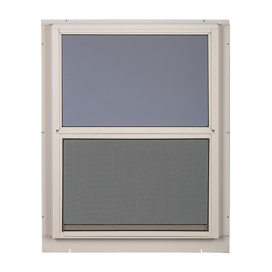 Shop comfort bilt single glazed aluminum storm window for Aluminum storm windows