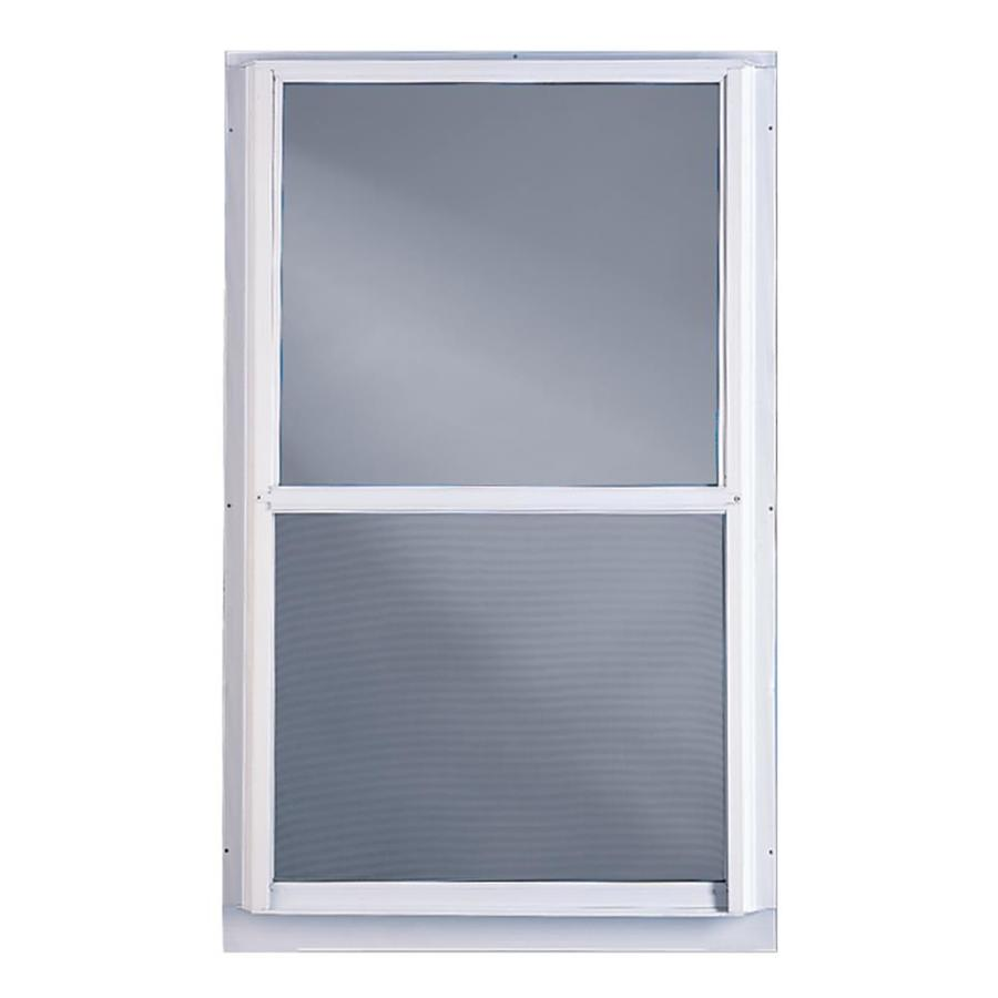 Shop comfort bilt single glazed aluminum storm window for Storm windows