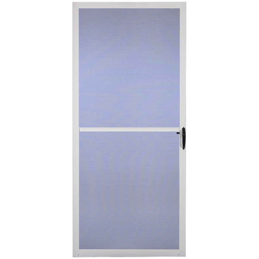 Shop comfort bilt key west white aluminum hinged screen door common 32 in x 81 in actual 31 - White security screen door ...