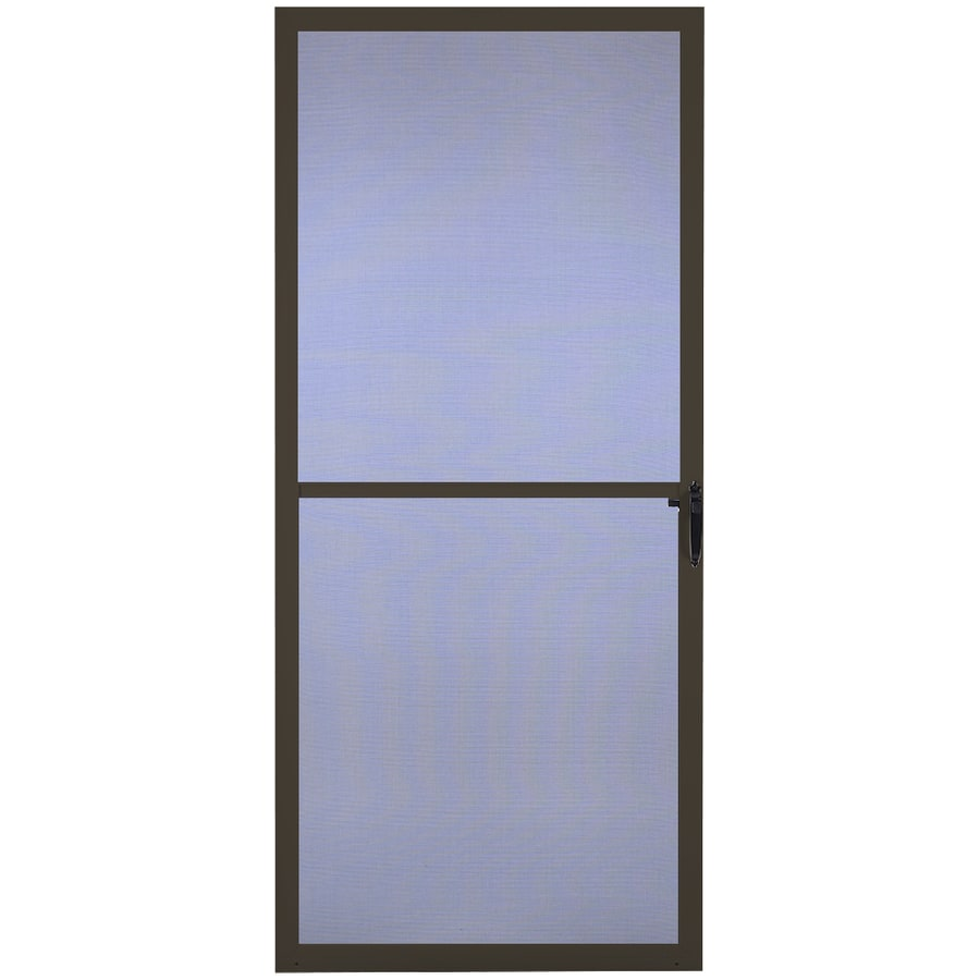 Comfort-Bilt Key West Brown Aluminum Hinged Screen Door (Common: 36-in x 81-in; Actual: 35.875-in x 80-in)