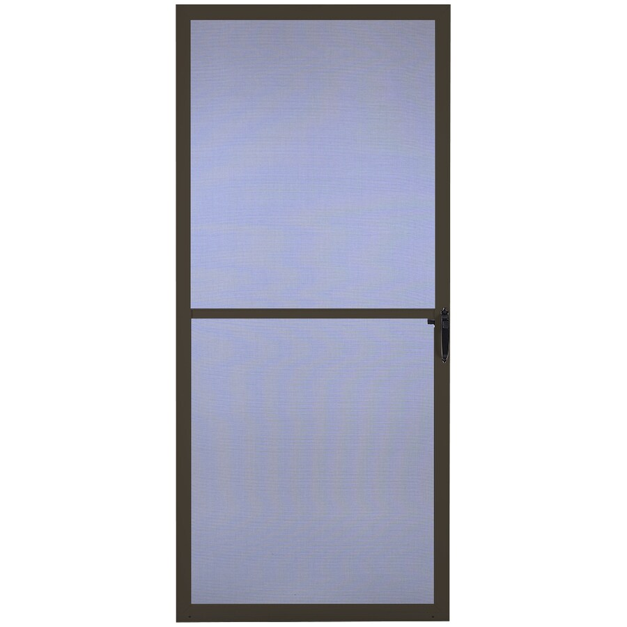 Comfort-Bilt Key West Brown Aluminum Hinged Screen Door (Common: 32-in x 81-in; Actual: 31.875-in x 80-in)