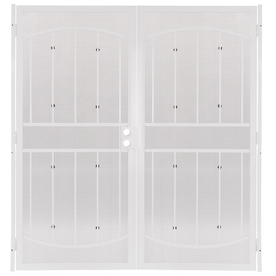 security doors at lowes. Exellent Security Gatehouse Steel Surface Mount Double Security Door Common 72in X 81 Intended Doors At Lowes V