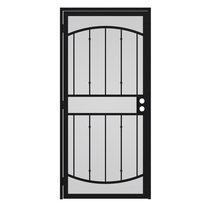 Gatehouse Gibraltar 32 In X 81 In Black Steel Surface Mount Single Door Security Door In The Security Doors Department At Lowes Com