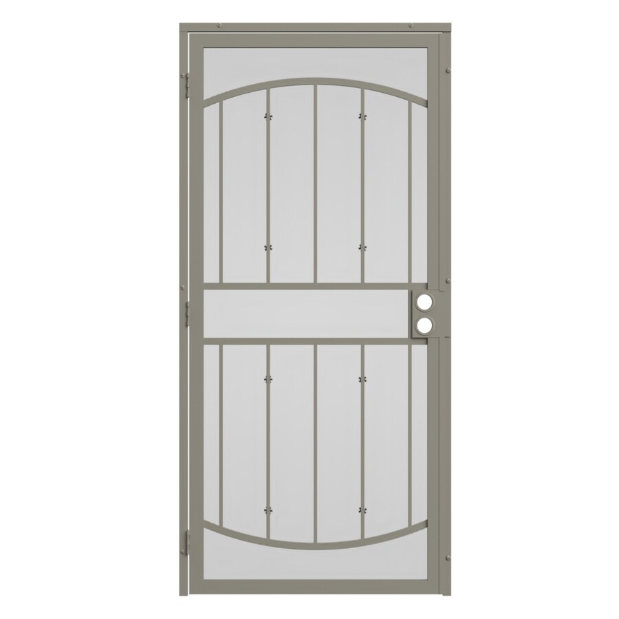 security doors at lowes. Interesting Doors Gatehouse Gibraltar Almond Steel Surface Mount Single Security Door  Common 32in X For Doors At Lowes R
