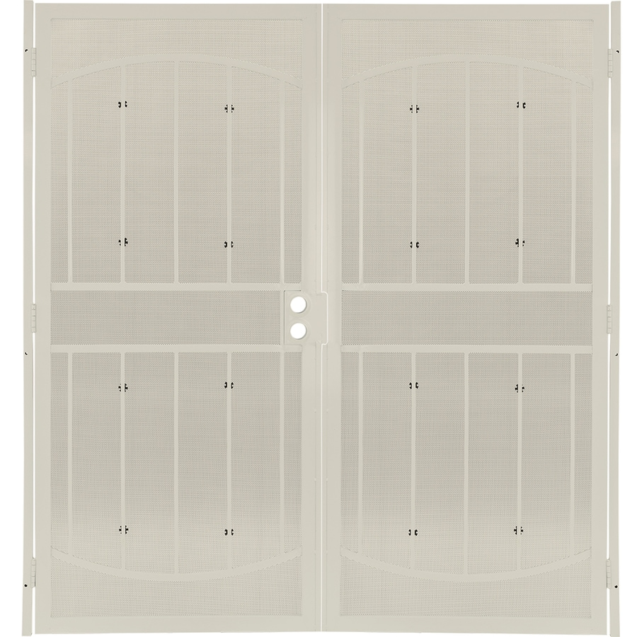 Gatehouse Gibraltar Almond Steel Surface Mount Double Security Door (Common: 64-in x 81-in; Actual: 67-in x 81.75-in)