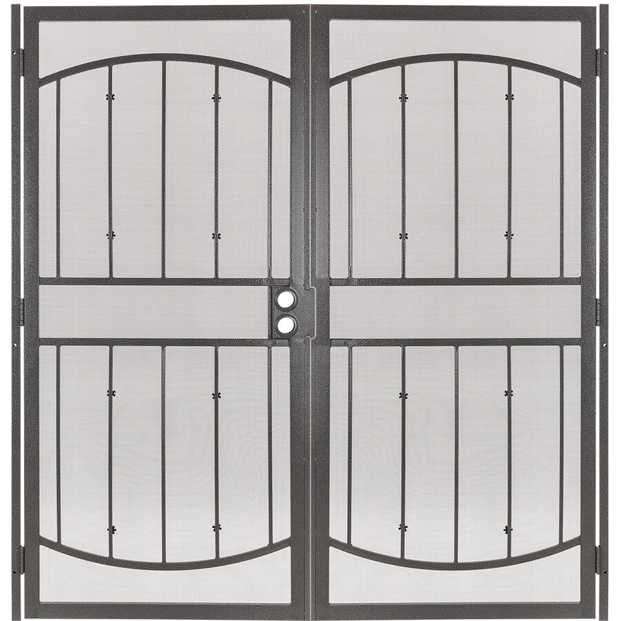 Gatehouse Gibraltar Silverado Steel Surface Mount Double Security Door (Common: 64-in x 81-in; Actual: 67-in x 81.75-in)