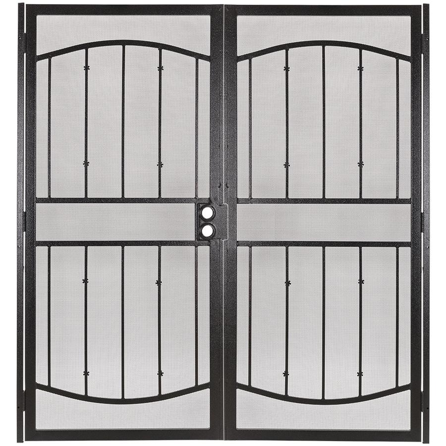 Gatehouse Gibraltar Bronze Steel Surface Mount Double Security Door (Common: 64-in x 81-in; Actual: 67-in x 81.75-in)
