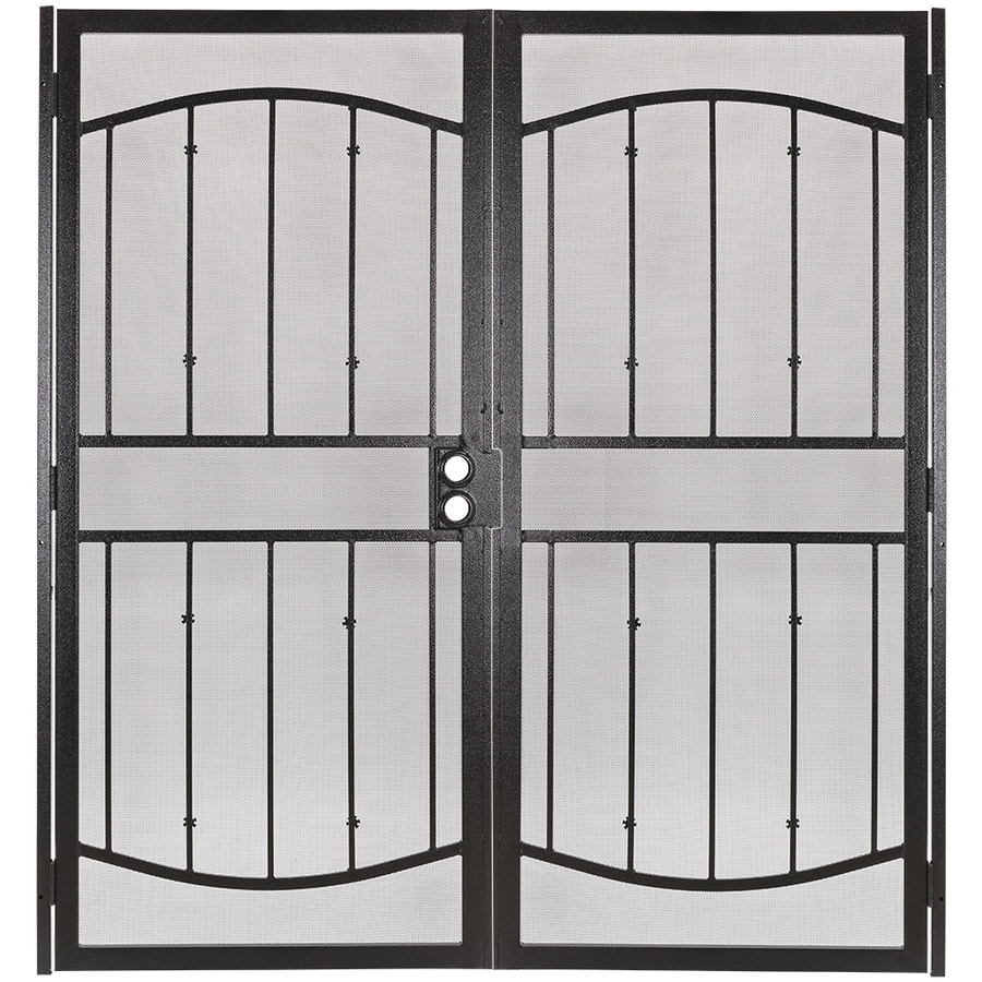 Gatehouse Gibraltar Bronze Steel Security Door (Common: 72-in x 81-in; Actual: 75.25-in x 81.75-in)