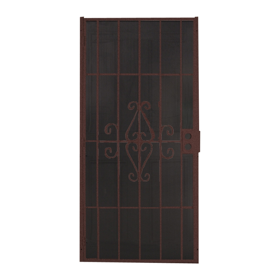 Comfort-Bilt Magnum Bronze Steel Security Door (Common: 32-in x 81-in; Actual: 34.125-in x 81.5-in)
